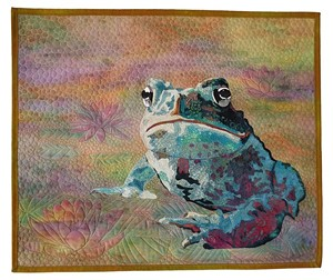 "COURTESY OF CONFLUENCE - ""Little Toad,"" quilt by Cindy Bartosewcz"