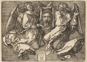 """COURTESY OF THE HYDE COLLECTION - """"Sudarium Held By Two Angels,"""" print by Albrecht Dürer"""