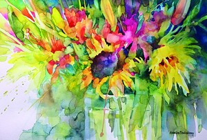 "COURTESY OF VALLEY ARTS - ""Garden Brushstrokes,"" watercolor by Annelein Beukenkamp"