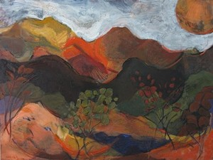 "COURTESY OF T.W. WOOD GALLERY - ""Mountain Melodies,"" painting by Ann Sarcka"