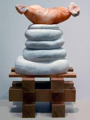 "COURTESY OF THE CARVING STUDIO & SCULPTURE CENTER - ""Offering"" by Stephanie Robison"