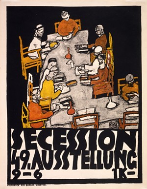 COURTESY OF MAHANEY CENTER FOR THE ARTS - 49th Secession exhibit poster by Egon Schiele