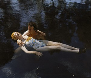 "COURTESY OF BIGTOWN GALLERY - ""My Mother and John in Pool,"" Virginia Beahan"