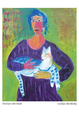 "COURTESY OF CAROLYN MECKLOSKY - ""Portrait With Heidi,"" painting by Carolyn Mecklosky"