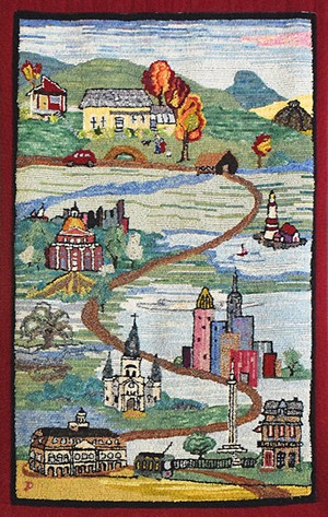 COURTESY OF VALLEY ARTS - Hooked rug by Judy Dodds