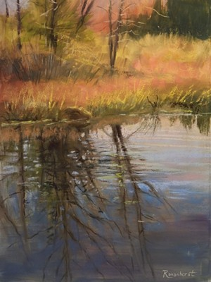"COURTESY OF EMILE A. GRUPPE GALLERY - ""Beaver Pond Reflections"" by Kathrena Ravenhorst-Adams"