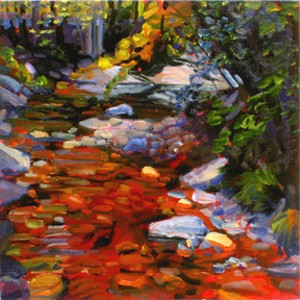 """COURTESY OF BUNDY MODERN - """"Mad River Red Rocks"""" by Candy Barr"""