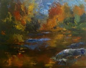 """COURTESY OF JANET BONNEAU - """"River of Colors,"""" oil painting by Janet Bonneau"""