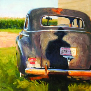 """COURTESY OF EDGEWATER GALLERY - """"Chevy of Myself,"""" painting by Timothy Horn"""