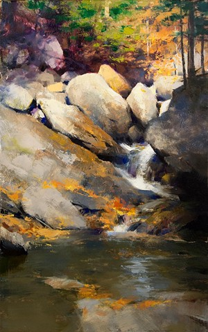 "COURTESY OF MARK BOEDGES FINE ART GALLERY - ""Falling Leaves"" by Mark Allen Boedges"