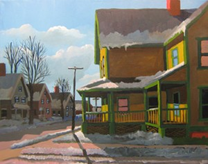 "COURTESY OF RIVER ARTS - ""The Old Neighborhood #1"" by Robert Brunelle Jr."
