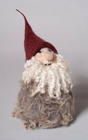 """COURTESY OF NORTHEAST KINGDOM ARTISANS GUILD - """"Yuletide Gnome"""" by Amanda Weisenfeld"""