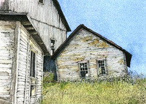 "COURTESY OF EMILE A. GRUPPE GALLERY - ""Portrait of a Barn"" by Harald Aksdal"