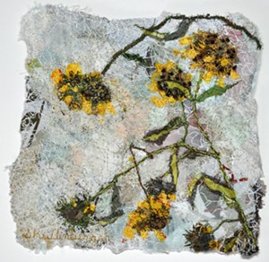 "COURTESY OF FURCHGOTT SOURDIFFE GALLERY - ""Dried Yellow"" by Dianne Shullenberger"