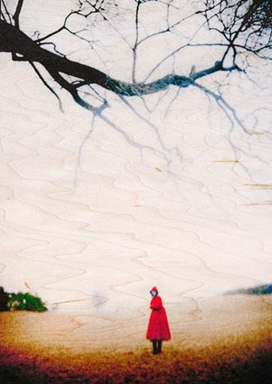 """COURTESY OF THE GOVERNOR'S GALLERY - """"Girl in Red Cloak"""" by Stephen M. Schaub"""