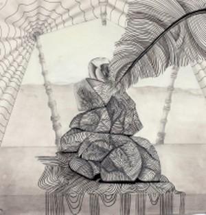 COURTESY OF MAHANEY CENTER FOR THE ARTS - Untitled drawing by Josh Emery Espy and Veronika Zubrytska