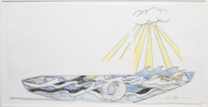 COURTESY OF MIDDLEBURY MUSEUM OF ART - Lichtenstein hull design sketch