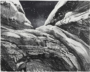 "COURTESY OF BRATTLEBORO MUSEUM & ART CENTER - ""Little Echo Ampitheater,"" lithograph print by Claire Van Vliet"