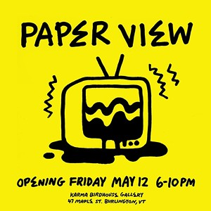 "COURTESY OF ISKRA PRINT COLLECTIVE - Poster for ""Paper View"" by Iskra Print Collective"