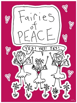 "COURTESY OF EMILY ANDERSON - ""Fairies of Peace"" drawing by Emily Anderson"