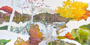 "COURTESY OF EDGEWATER GALLERY - ""Houghton's Pond"" by Heamin Jeong"
