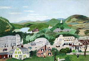 "COURTESY OF THE BENNINGTON MUSEUM - ""Bennington"" by Anna Mary Robertson ""Grandma"" Moses"