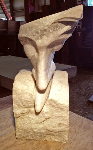 COURTESY OF VERMONT STATE CURATOR'S OFFICE - Sculpture by George Kurjanowicz