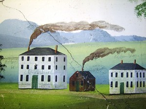 COURTESY OF OLD STONE HOUSE MUSEUM - Painting by Rufus Porter