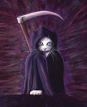 "COURTESY OF THE S.P.A.C.E. GALLERY - ""Reaper Kitten"" by Martha Hull"