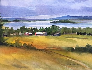 COURTESY OF MAURIE HARRINGTON - Untitled watercolor by Maurie Harrington