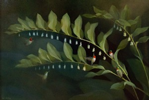 """COURTESY OF COMPASS MUSIC & ARTS CENTER - """"Solomon's Seal and Hummingbirds"""" by Susan Bull Riley"""