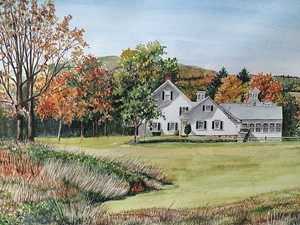 COURTESY OF JACKSON GALLERY AT TOWN HALL THEATER - Untitled watercolor by Gayl Braisted