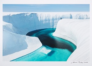 "COURTESY OF THE MIDDLEBURY COLLEGE MUSEUM OF ART - ""Greenland Ice Sheet"" by James Balog"