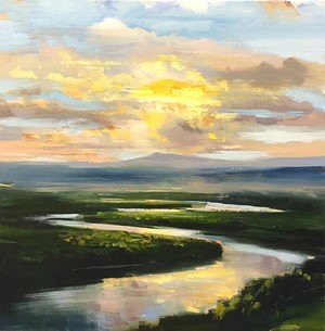 "COURTESY OF VERMONT SUPREME COURT GALLERY - ""Sunset Serenade"" by Craig Mooney"
