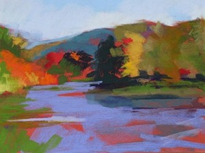 "COURTESY OF LUXTON-JONES GALLERY - ""Bend in the River"" by Athenia Schinto"