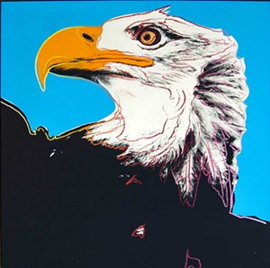 "COURTESY OF THE BRATTLEBORO MUSEUM & ART CENTER - ""Bald Eagle"" by Andy Warhol"