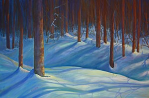 """COURTESY OF RIVER ARTS - """"Woodland Shadow Play"""" by Cindy Griffith"""