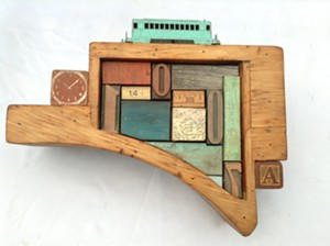 COURTESY OF WHITE RIVER GALLERY @ BALE - An assemblage by John F. Parker
