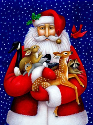 "COURTESY OF COMPASS MUSIC & ARTS CENTER - ""Wildlife Santa"" by Stephanie Stouffer"