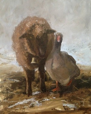 COURTESY OF JACKSON GALLERY AT TOWN HALL THEATER - Untitled painting by Gabrielle McDermit