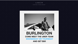 Uber Arrives in Burlington