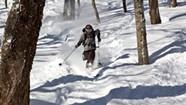 Vasu Sojitra Skis With the Best, on One Leg
