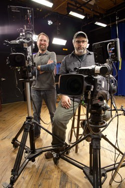 VCAM executive director Seth Mobley and director of media services Bill Simmon - MATTHEW THORSEN
