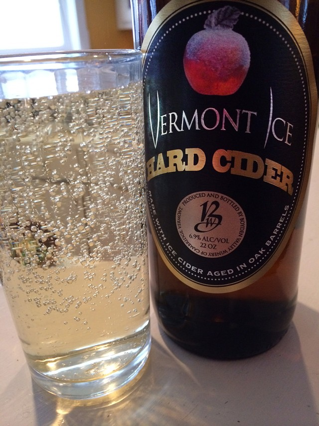Vermont Ice Hard Cider, decanted - COURTESY OF BOYDEN VALLEY WINERY