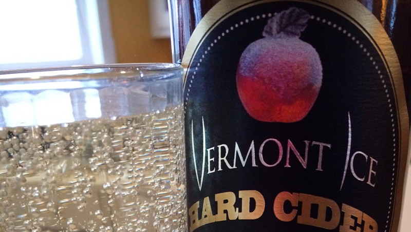Vermont Ice Hard Cider, decanted