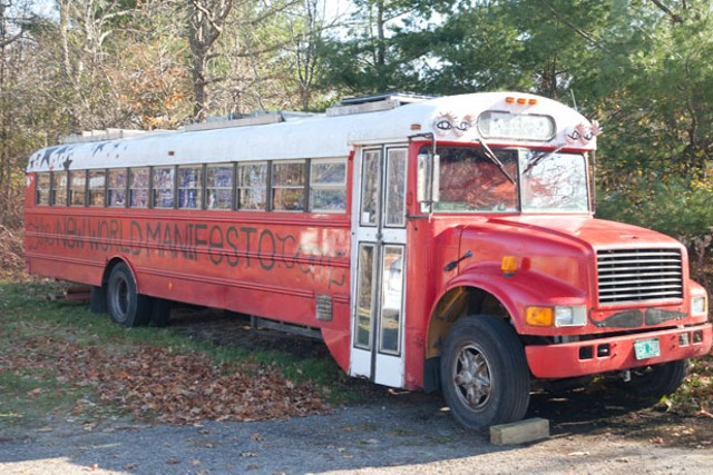 Vermont Joy Parade bus