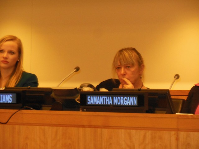 Vermont resident and Nobel Peace Prize Winner Jody Williams talked about the activist's life at the UN. - KEVIN J. KELLEY