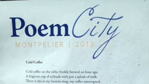 Versatile Verses: PoemCity in Montpelier for National Poetry Month