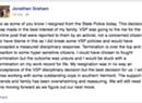 Trooper Who Resigned Under Pressure Posts Online Explanation