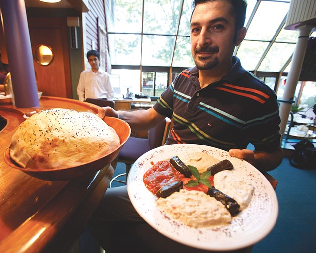 Vural Oktay holding a meze platter - FILE: JORDAN SILVERMAN